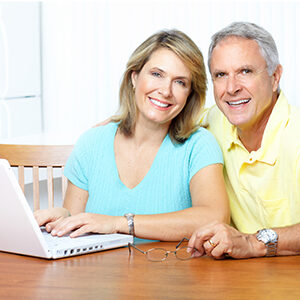 First Level Support image - couple with laptop